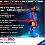 BBQ and Medal Presentation, Saturday 16 May